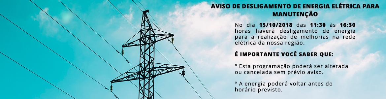 Desligamento energia elétrica